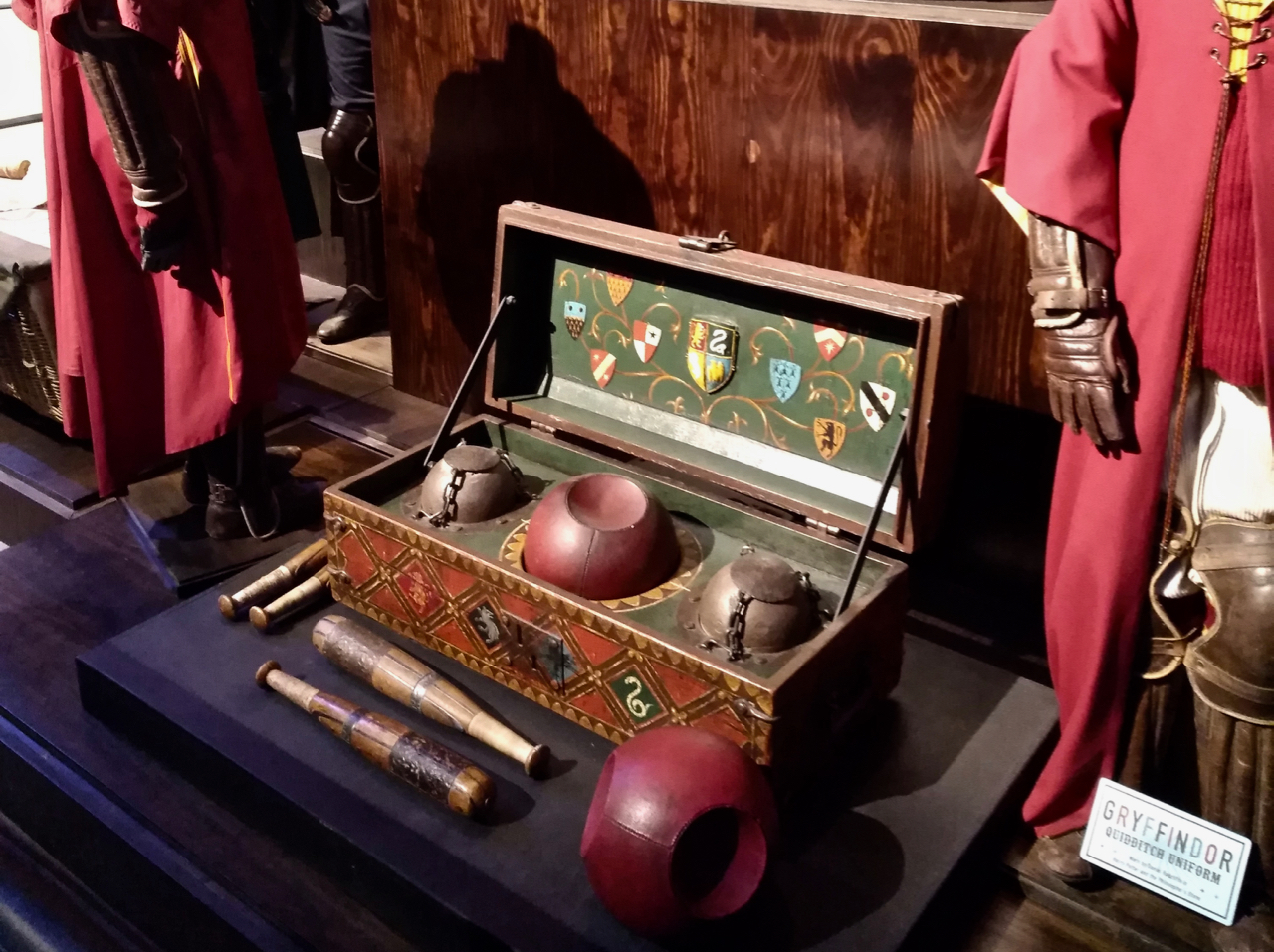 Quidditch Chest and props at the Harry Potter Warner Bros Studio