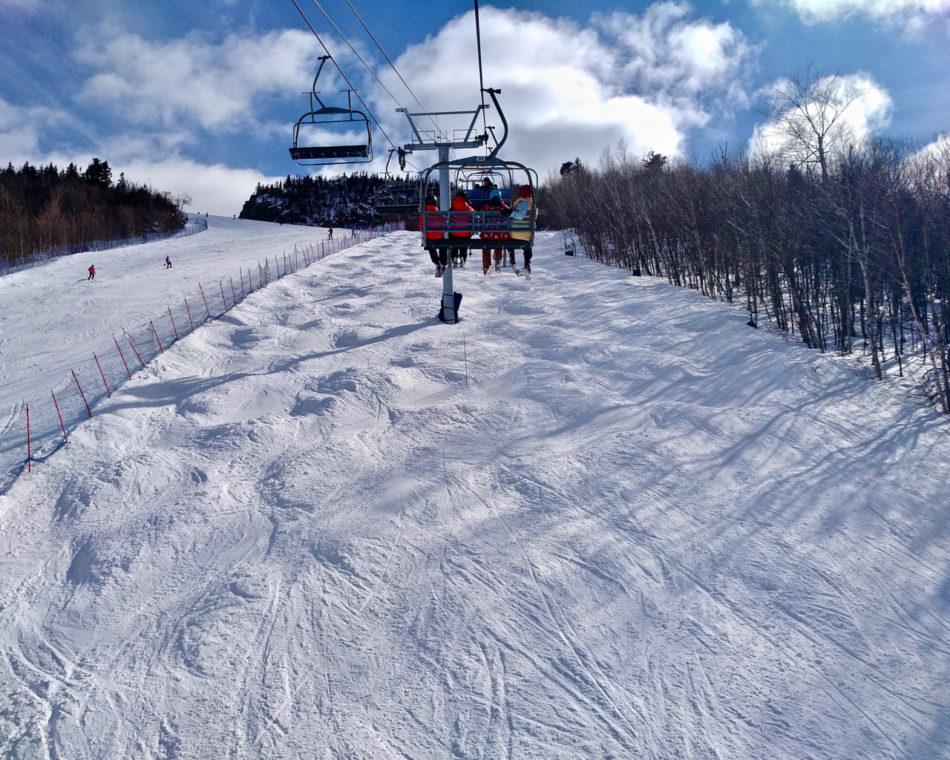 Ski lift at Mont Orford ski resort