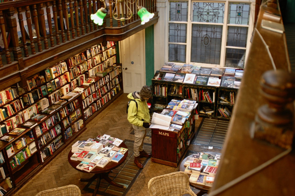 Simone in Daunt Books during our Harry Potter weekend in London