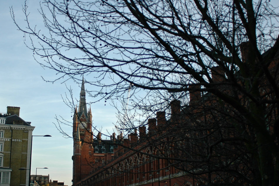 La gare de St Pancras utilisée pour représenter la gare de King's Cross Station dans les films de Harry Potter