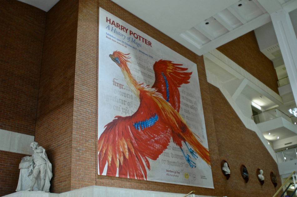 The Harry Potter Exhibition - A History of Magic - at the British Library during our Harry Potter weekend in London