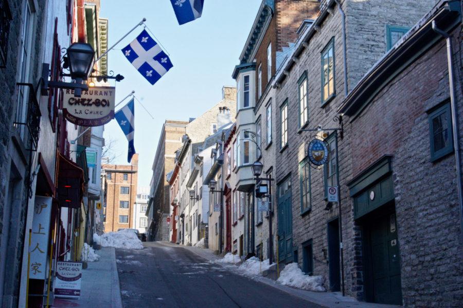 Beautiful side street on rue Saint-Jean in Québec city
