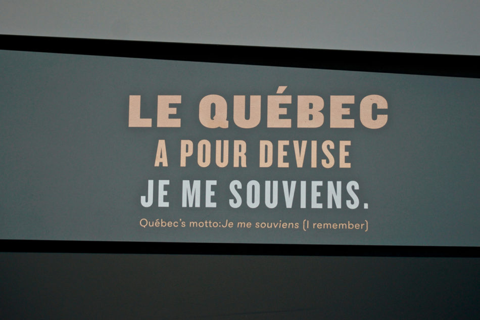 Motto of Québec city at the Observatory
