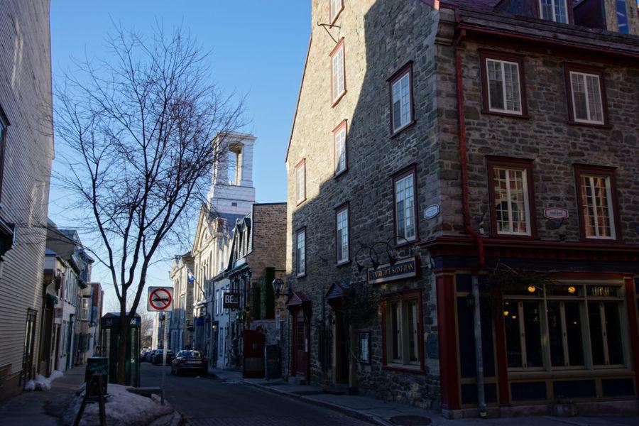 Part of rue Saint-Jean in Québec city