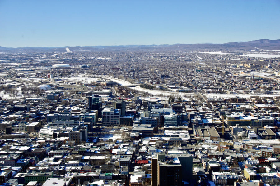 View of Québec city buildings from the Observatory