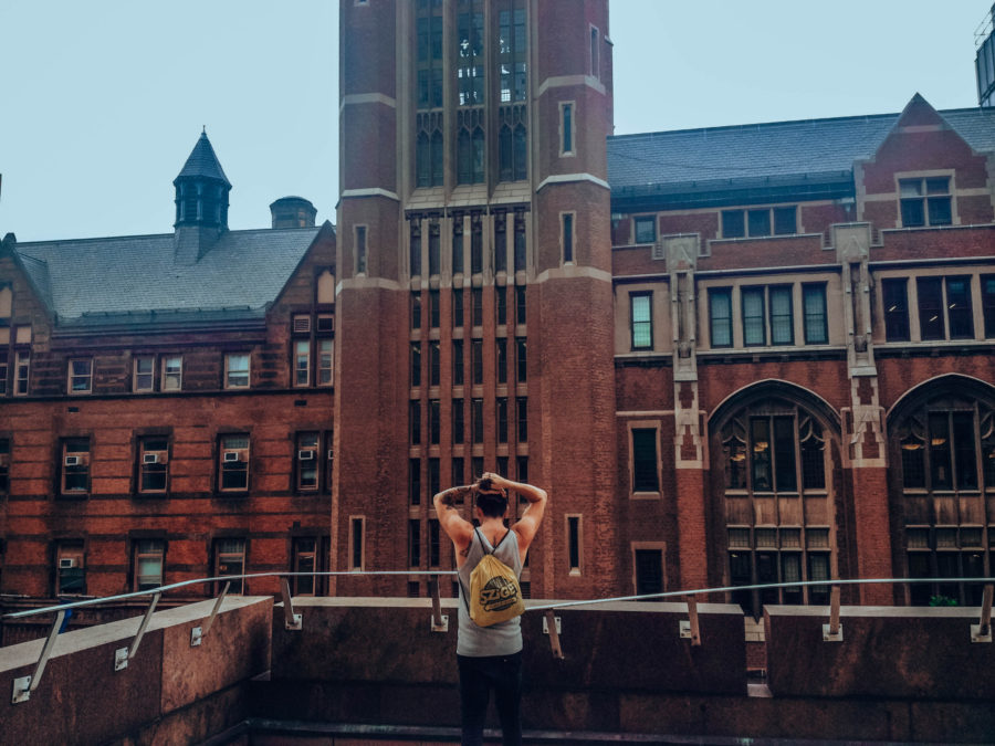 Off the beaten path things to do in NYC Simone in front of Columbia University
