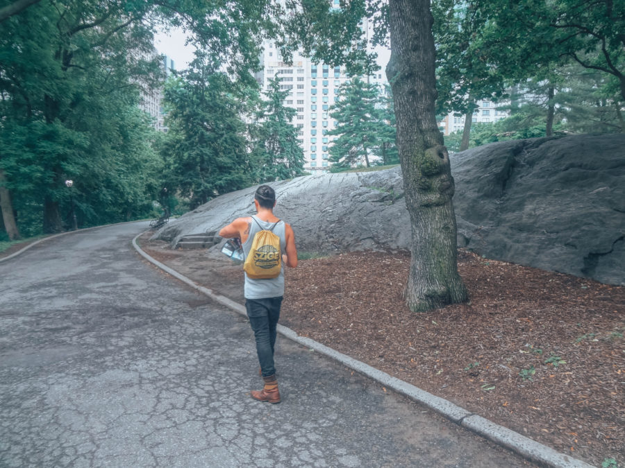 Off the beaten path things to do in NYC Simone walking in Central Park