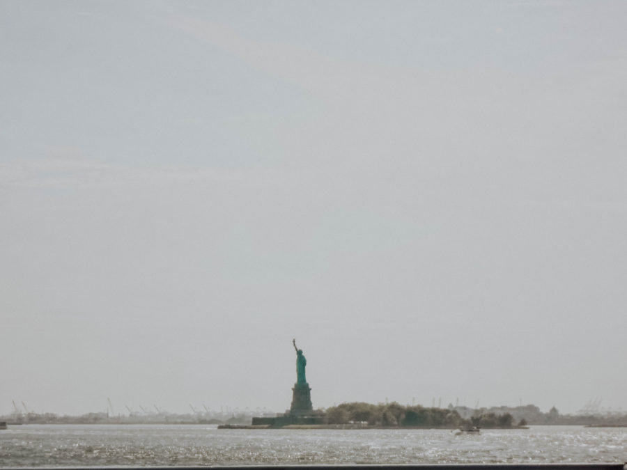 Off the beaten path things to do in NYC Statue of Liberty from the ferry to New Jersey