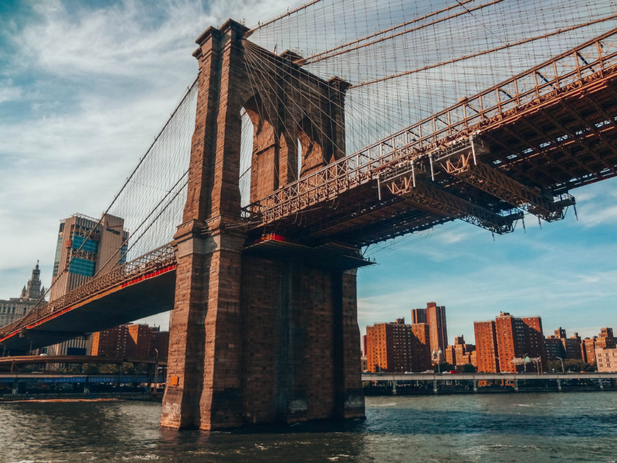 Off the beaten path things to do in NYC Under a bridge on the ferry to New Jersey