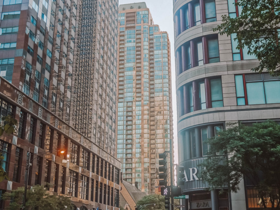 Itinerary USA road trip by bus - Chicago Magnificient Mile