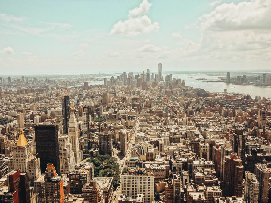 Itineray USA road trip by bus - New York City