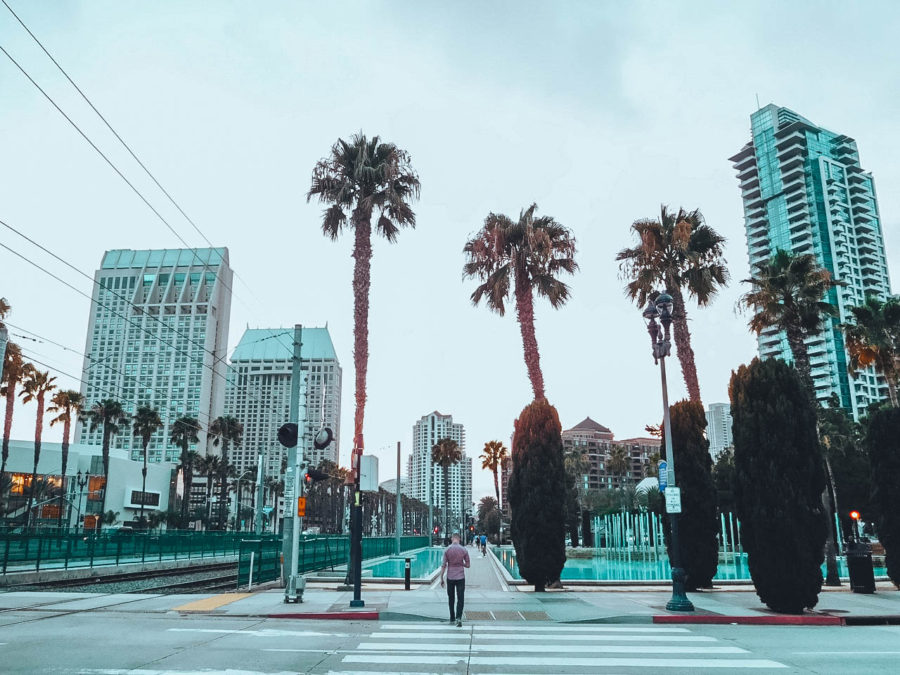 Itinerary USA road trip by bus - San Diego Downtown