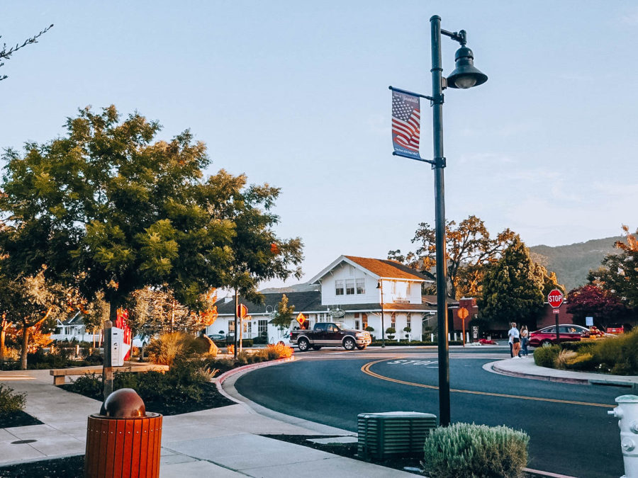 Itinerary USA road trip by bus - The town of Yountville