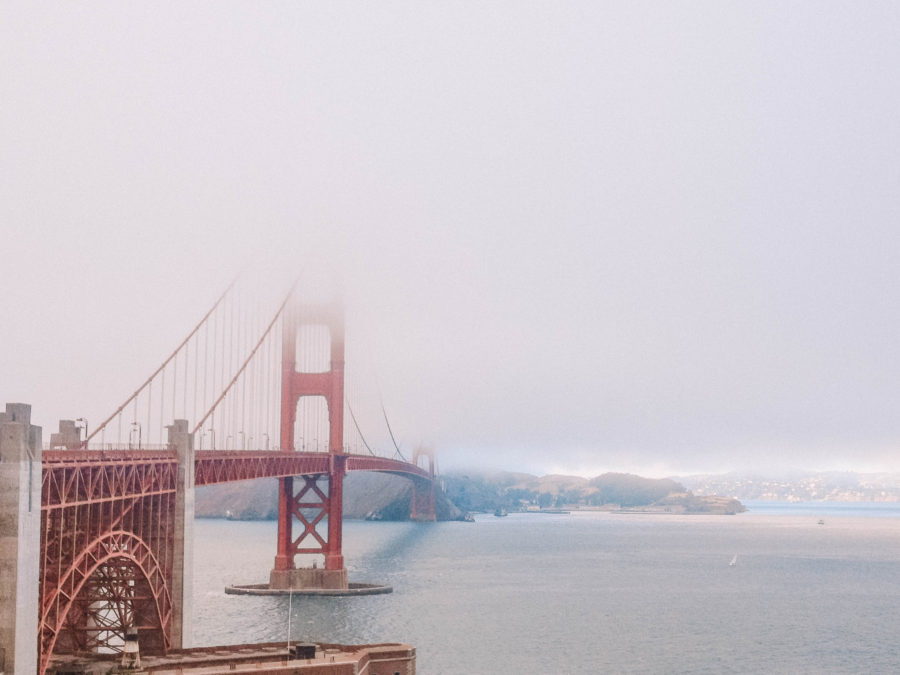 Itinerary USA road trip by bus - San Francisco Bridge