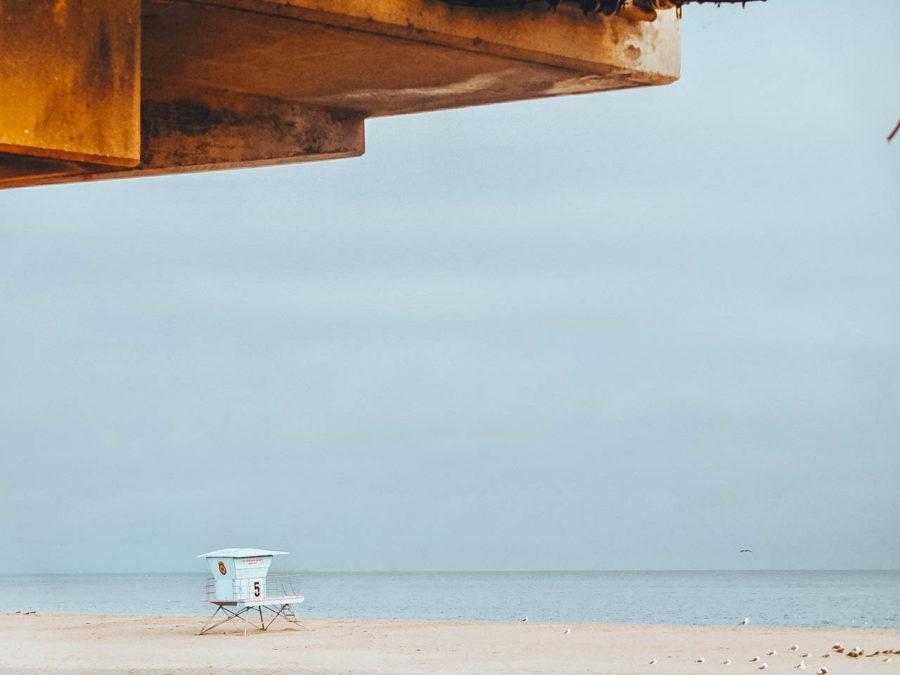 Itinerray USA road trip by bus - Santa Cruz Beach from the roller coaster