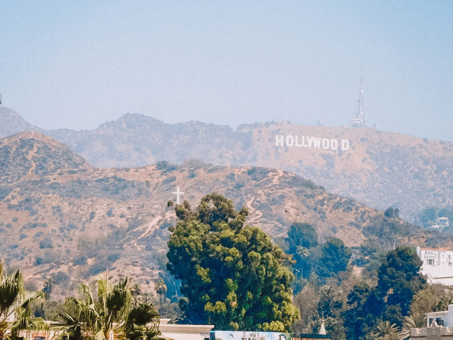 Itinerary USA road trip by bus - Hollywood sign in L.A.