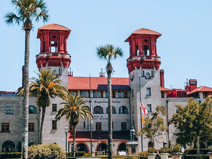 Itinerary USA road trip by bus - University in St Augustine, Florida