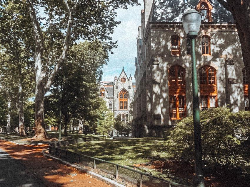 Itinerary USA road trip by bus - University of Pennsylvania in Philadelphia
