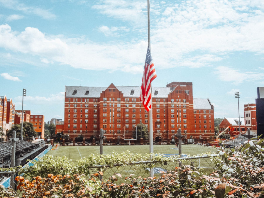 Itinerary USA road trip by bus - Georgetown University Football field