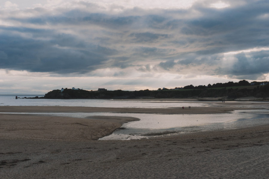The beach in the beautiful town of Guidel in Brittany, France