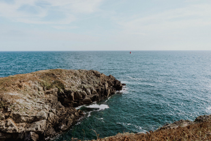 Sea view at Pointe Saint-Mathieu on our van road trip in Brittany, France