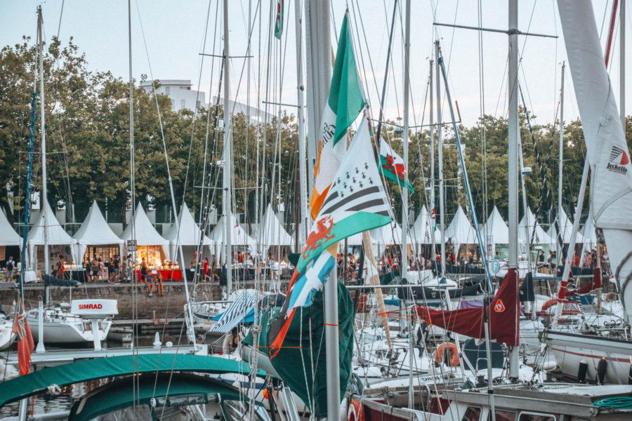 Le port de Lorient pendant le Festival Interceltique lors de notre road trip en Bretagne en van