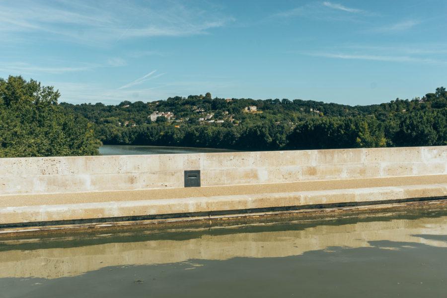 The special bridge in Agen France