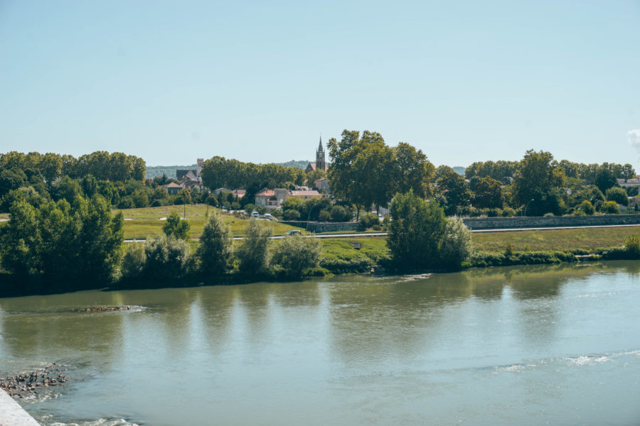 View from the bridge in Agen France