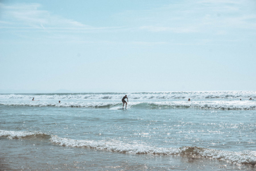 A surfer in Seignosse while we were on our van road trip in south west France