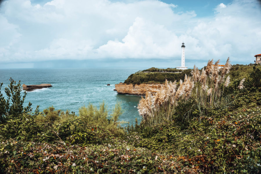 The cute Biarritz lighthouse while exploring the town