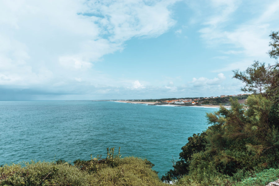 Beautiful seaview in Biarritz on a sunny day