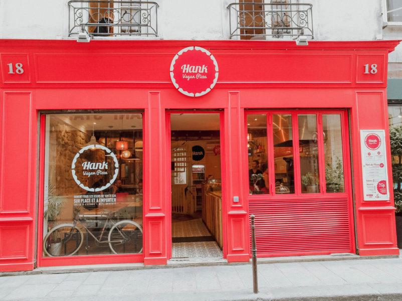My favourite vegan pizza place in Paris Hank Pizza in the Marais