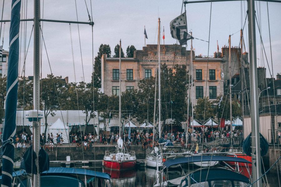 Les tentes du quai celtique au Festival Interceltique de Lorient