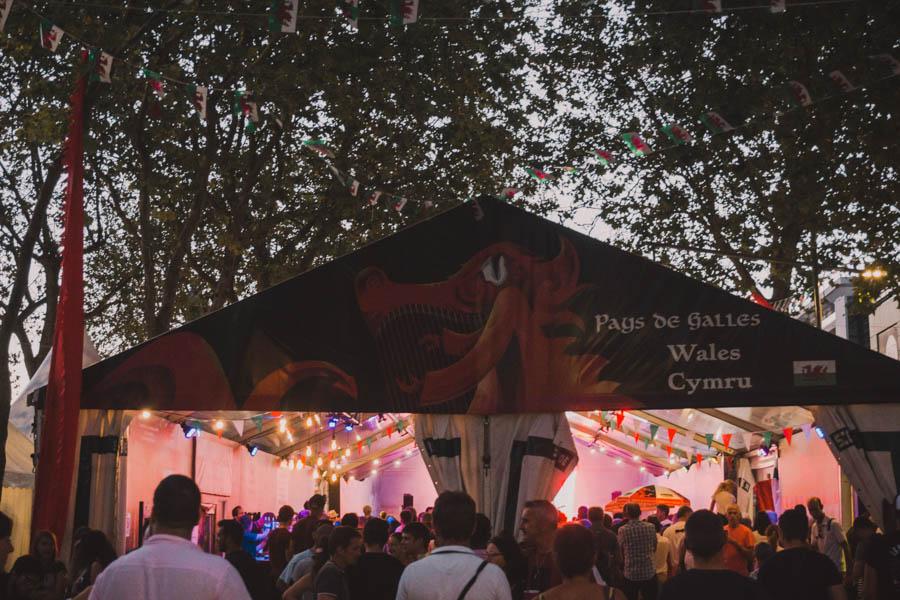 La tente du Pays de Galles au Festival Interceltique de Lorient