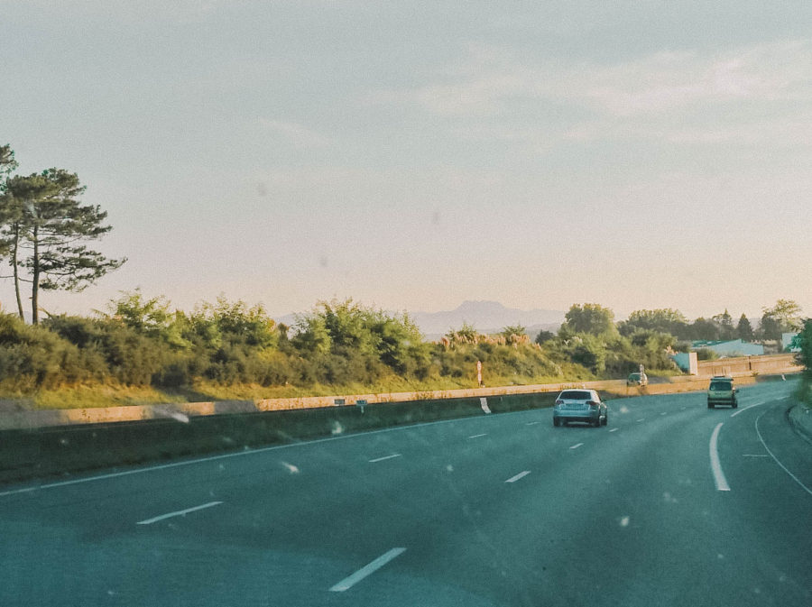 On the road in our camper van from Hossegor to Biarritz