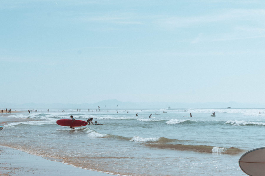 Surf life on the south west coast of France in Seignosse and Hossegor