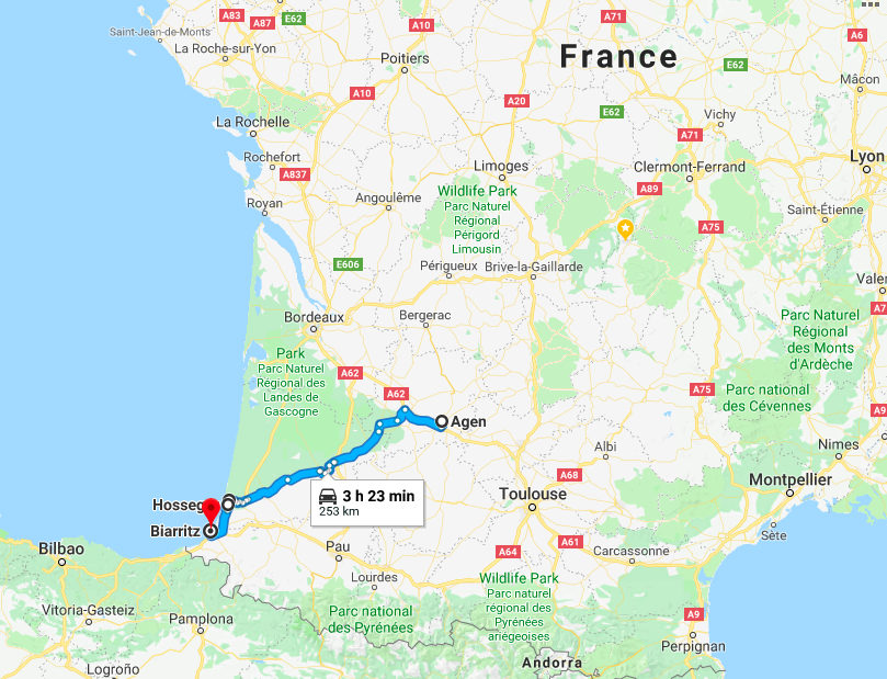 Van Life Weekly 4 Itinerary from Agen to Hossegor and Biarritz