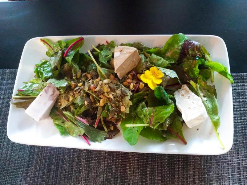 The faux cheese platter at gastronomic vegan restaurant in Paris Gentle Gourmet