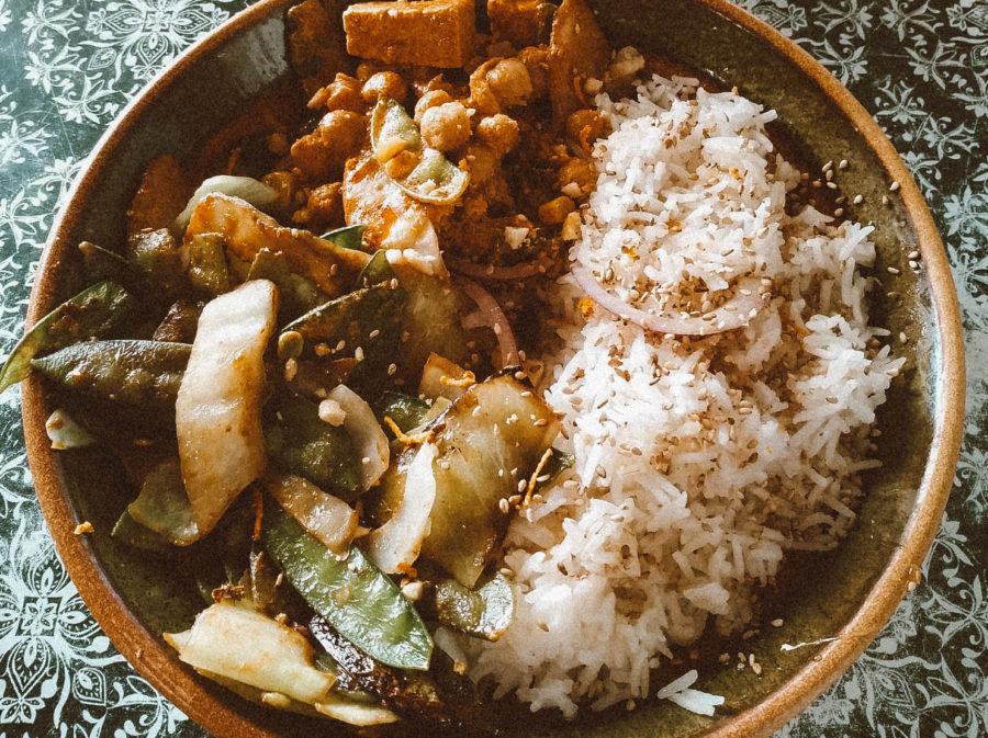 Vegan Warung at Happy Belly restaurant in Seignosse