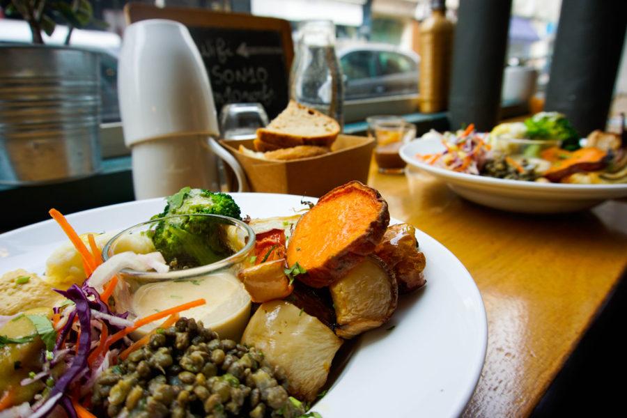 The Vegan Brunch salty dish at Pinson in Paris