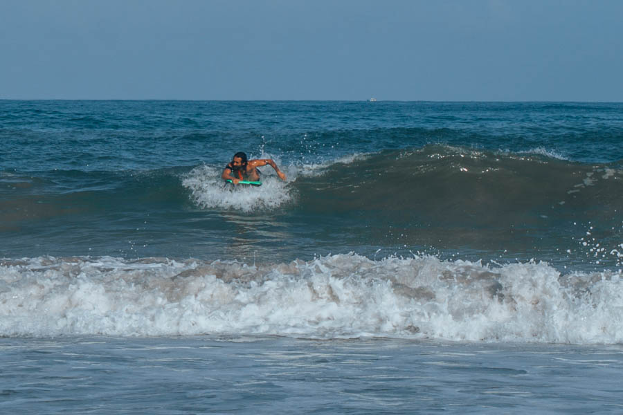 Simone bodyboarding in Biarritz France-1