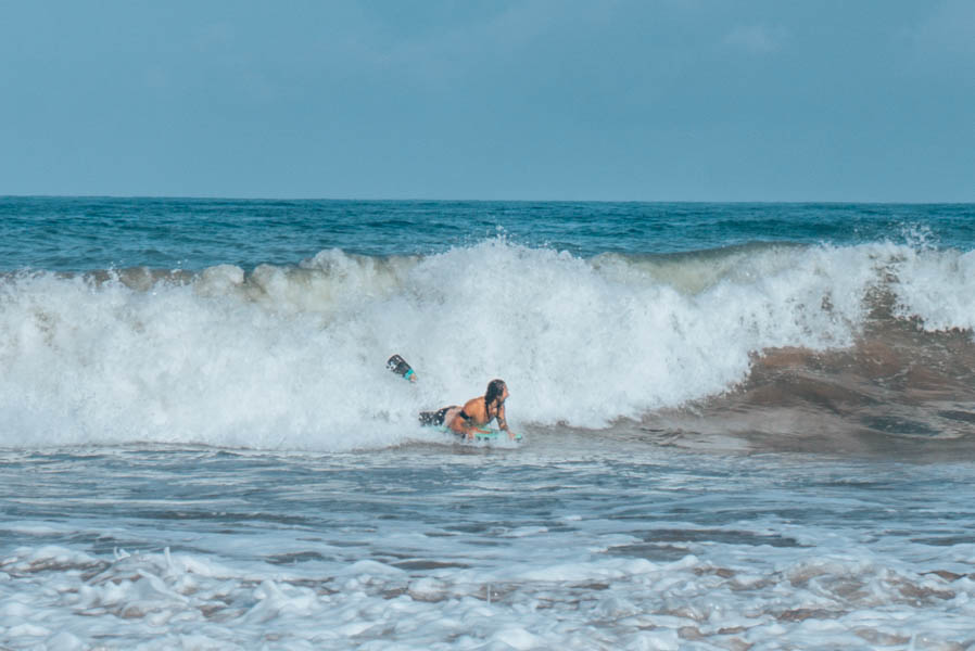 Simone bodyboarding in Biarritz France-4