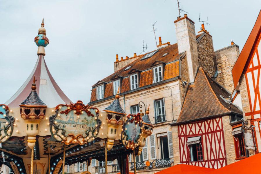 Merry-go-round in Dijon