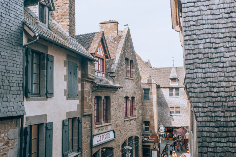 La Grand Rue of Mont Saint Michel from the remparts