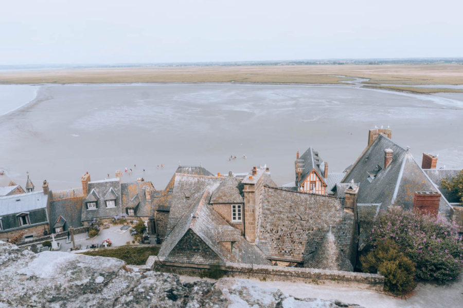 View of the village from the remparts of Mont Saint Michel