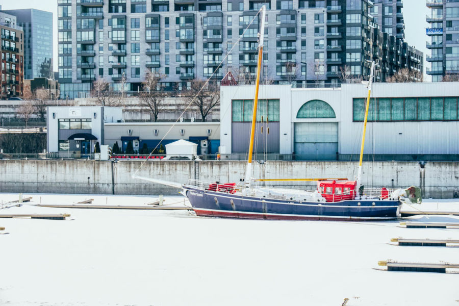 A boat in Montreal Old Port