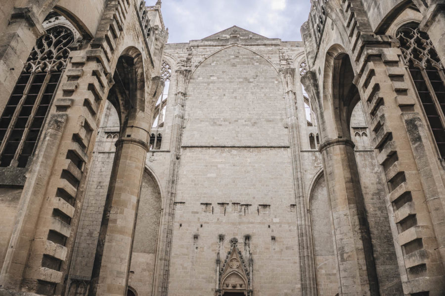 Cathedrale St-Just walls in Narbonne