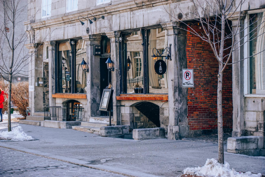 Cute coffee place in Old Montreal town