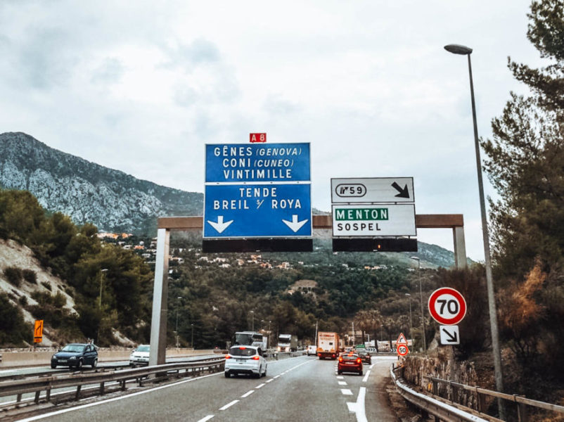Driving from France to Italy