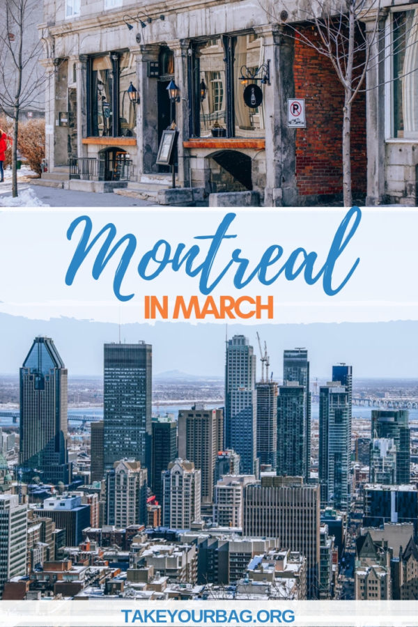 Montreal in March | What to do in Montreal in March | Where to drink cocktails in Montreal |View from Mont Royal Belvedere in Montreal Qc Canada